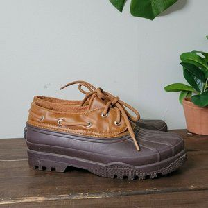 Sperry Top-Sider Duck Boots Rain Shoes Brown 6.5 M